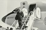 Gerald Ford deplaning at Patrick Henry Airport before third debate.jpg