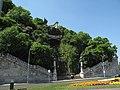 Gerard Sagredo monument and Gellért Hill Waterfall, 2011 Budapešť 0360.jpg