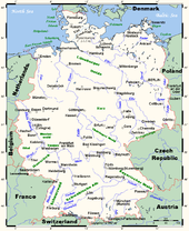 Map Of Germany And Surrounds.Geography Of Germany Wikipedia
