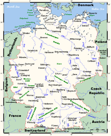 List Of Rivers Discharging Into The North Sea Wikipedia - Germany map of rivers