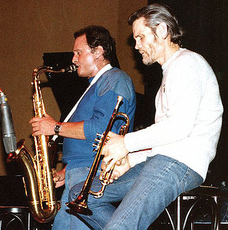 Chet Baker - Chet Baker (right) with Stan Getz in 1983