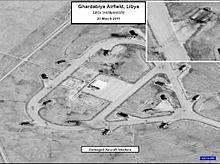 220px-Ghardabiya_Airfield_-_Damaged_Aircraft_Shelters_-_Operation_Odyssey_Dawn GUERRES