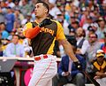 Giancarlo Stanton competes in semis of '16 T-Mobile -HRDerby. (28496634571).jpg