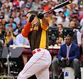 Giancarlo Stanton competes in semis of '16 T-Mobile -HRDerby. (28496640001).jpg