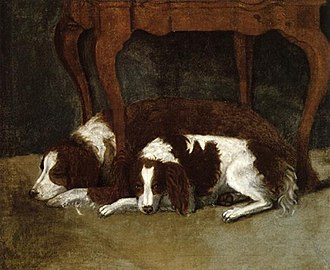 Dogs in the American Revolutionary War - Image: Gilbert Stuart The Hunter Dogs