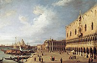 Giovanni Antonio Canal, il Canaletto - View of the Ducal Palace - WGA03884.jpg