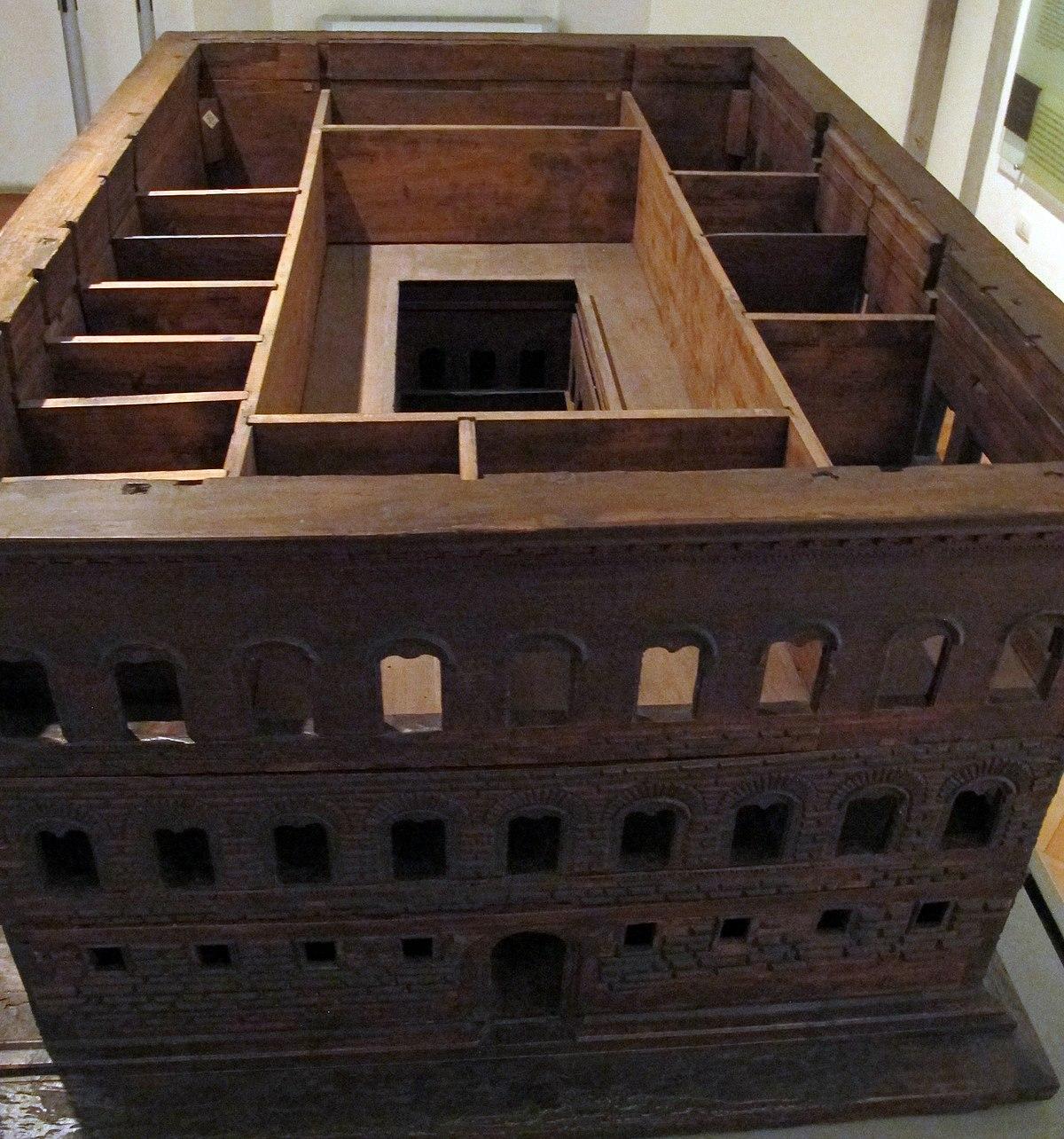 Giuliano da sangallo o bendetto da maiano, modello per palazzo strozzi, 1489 ca, 03.JPG
