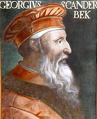 Skanderbeg, Albanian national hero and most important leader of the Ottoman-Albanian wars