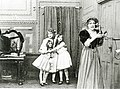 Gladys Egan, Mary Pickford, Adele DeGarde and Marion Leonard (from left) in The Lonely Villa (1909).jpg