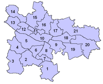 Glasgow City Council - Pre-2017 multi-member wards by number