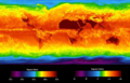 Global surface brightness temperature. April 2013.png