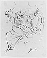 God The Father Creating (?) (r.); Study of neo-classical statue of a nude male (v.) MET 266209.jpg