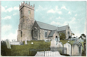 Godshill - Godshill Church, circa 1910.