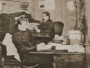Samuel Gompers in the office of the American F...