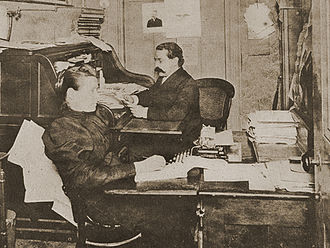 American Federation of Labor - Samuel Gompers in the office of the American Federation of Labor, 1887.
