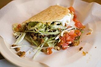 Mexican street food - Stuffed gordita