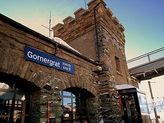 Gornergrat railway station - Image: Gornergrat railway station
