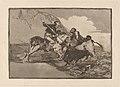 Goya - Modo con que los antiguos Espanoles cazaban los toros a caballo en el campo.jpg