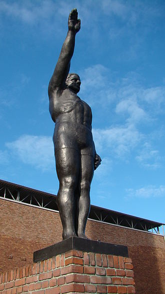 Olympic symbols - The Olympic Salute sculpted by Gra Rueb, sculpted for the 1928 Summer Olympics in Amsterdam.