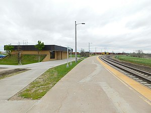 Grand Forks station - The station at Grand Forks in May 2017.