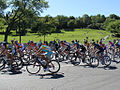 Grand Prix Cycliste de Montréal 2011, Peloton and Mont Royal park (6140838672).jpg