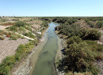 Pecos River - Image: Grandfalls Texas Pecos River 2010