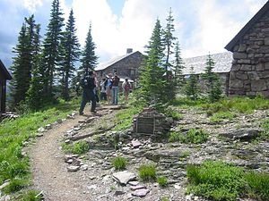 Glacier National Park Tourist Trails - North Circle Trail at Granite Park Chalet