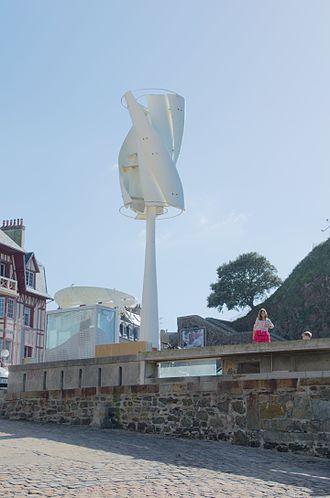 Small wind turbine - Twisted savonius wind turbine in Granville, France