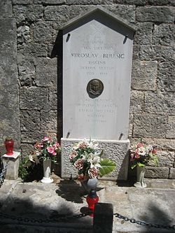 https://upload.wikimedia.org/wikipedia/commons/thumb/d/df/Grave_of_Miroslav_Bulesic.JPG/250px-Grave_of_Miroslav_Bulesic.JPG