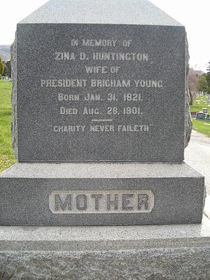 Zina D. H. Young - Gravestone of Zina D.H. Young in Salt Lake Cemetery