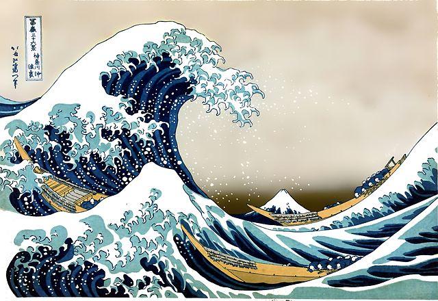 """""""Die große Welle vor Kanagawa"""" von Hokusai Katsushika (1760-1849) image source"""