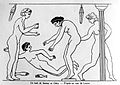 Grecian Women's bath from a Grecian vase in the Berlin Museum. Wellcome M0004945.jpg