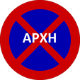 Greek road sign no stopping and parking beggining.png