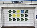 Green Park tube station, Victoria Line, ceramic tiles (geograph 4533947).jpg