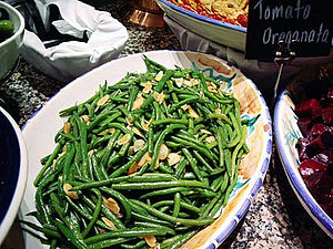 Amandine (garnish) - Green beans amandine