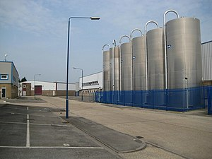 J. Lyons and Co., Greenford - Silos on the Lyon Way industrial estate