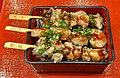 Grilled chicken skewer lunch box of Nakau.jpg