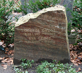 George Grosz - Grosz' tomb in the Friedhof Heerstraße, Berlin