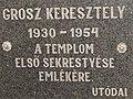 Grosz Keresztély, a templom első sekrestyésének emlékére, 2018 Dombóvár.jpg