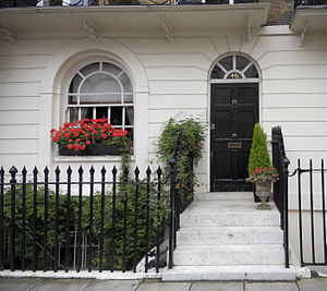 John Bingham, 7th Earl of Lucan - The front entrance to 46 Lower Belgrave Street