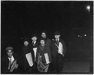 The Buffalo News - Buffalo Evening News paper boy's 1910