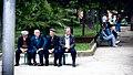 Groups of people in a park . Altamura.jpg