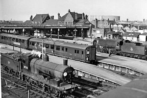 LSWR 700 class - 700 class No. 30700 at Guildford Station, April 1958