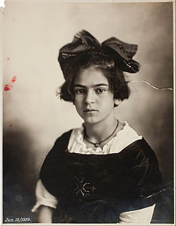 Frida Kahlo, Self-portrait with Thorn Necklace and Hummingbird, Nickolas Muray Collection, Harry Ransom Center, University of Texas at Austin[1]
