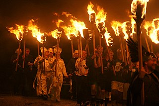 Up Helly Aa Variety of annual fire festivals held in Shetland, Scotland, in the middle of winter to mark the end of the yule season