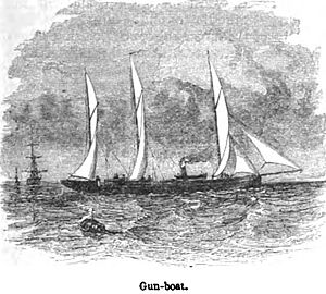 Gun-boat. George Dodd. Pictorial history of the Russian war 1854-5-6.jpg
