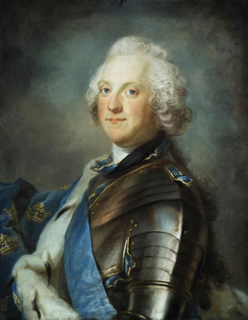 Gustaf Lundberg - Portrait of Adolf Frederick, King of Sweden - WGA13779