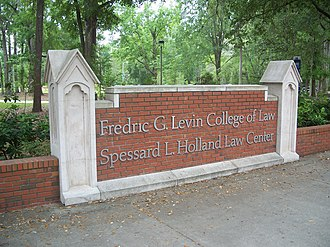 Fredric G. Levin College of Law - Image: Gville UF Levin Law sign 03