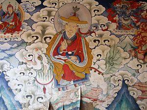 Gyalpo spirits - A gyalpo dharmāpala in peaceful aspect, Gangteng Monastery
