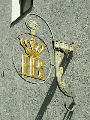 Staatliches Hofbräuhaus in München - Logo of the brewery (seen from Bräuhaus Str.)